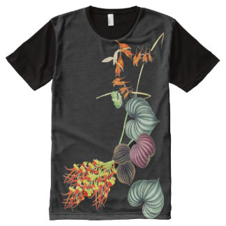 Tropical Island Orchid Flowers Floral Ladies Shirt
