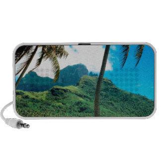 Tropical Island Otemanu Peak French Polynesia Notebook Speakers