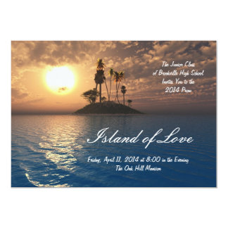 Tropical Island Palm Prom Invitation