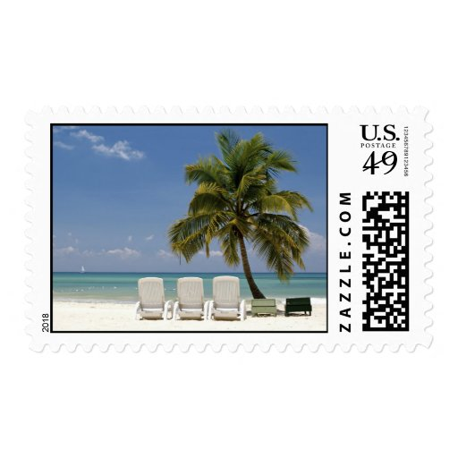 Tropical Island Paradise Postage Stamps