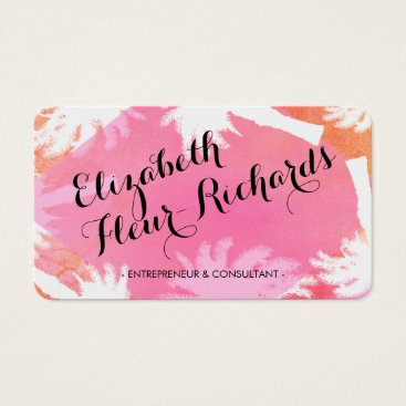 Beach Themed Tropical Island Pink Business Card