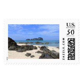 Tropical island postage
