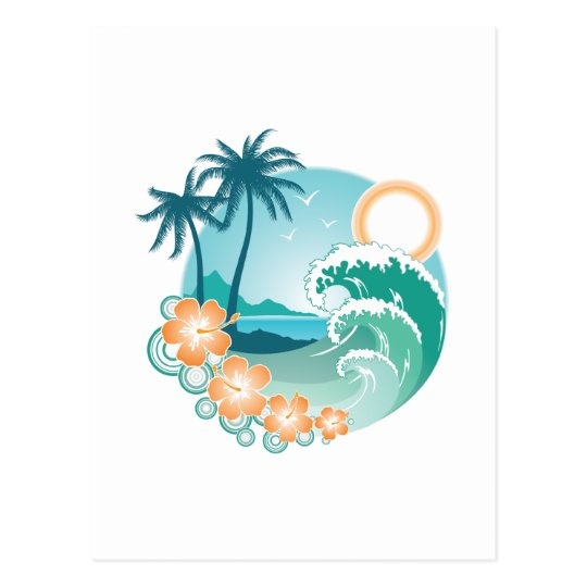Tropical Island Postcard