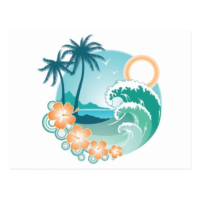 Tropical Island Postcard