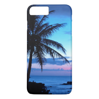 Tropical Island Pretty Pink Blue Sunset Photo iPhone 7 Plus Case