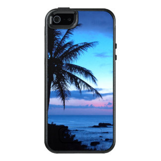 Tropical Island Pretty Pink Blue Sunset Photo OtterBox iPhone 5/5s/SE Case