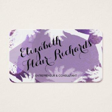 Beach Themed Tropical Island Purple Business Card