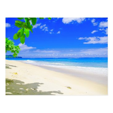 Tropical Island Retreat On White Sandy Beach Postcard