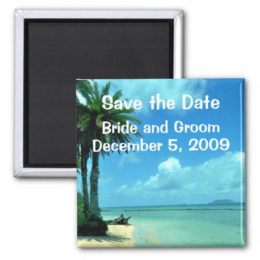 Tropical Island Save the Date Magnet