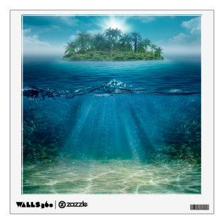 Tropical Island Seabottom Wall Decal