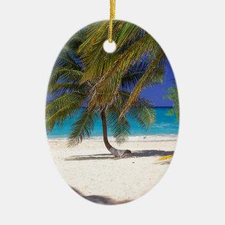 Tropical Island Seven Mile Grand Cayman Ceramic Ornament