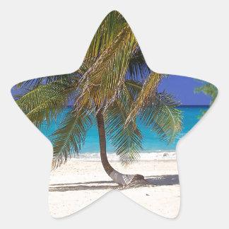 Tropical Island Seven Mile Grand Cayman Star Sticker