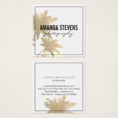Tropical Island Square Business Card at Zazzle