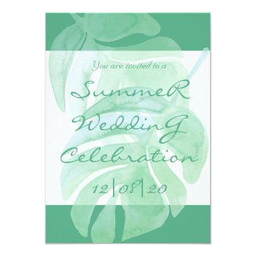 Beach Themed Tropical Island Summer Wedding Invitation