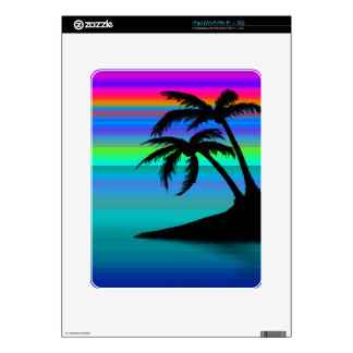 Tropical Island Sunset Decal For iPad