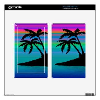 Tropical Island Sunset Kindle Fire Skin