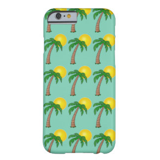 Tropical Island Sunset Palm Tree Summer Pattern Barely There iPhone 6 Case