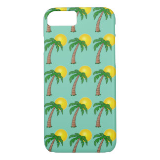 Tropical Island Sunset Palm Tree Summer Pattern iPhone 7 Case