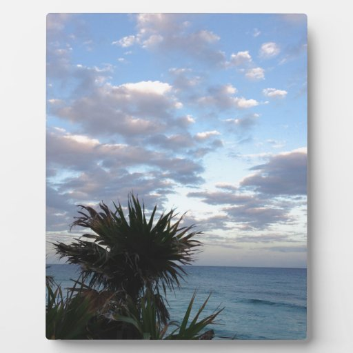 Tropical Island Sunset Plaque