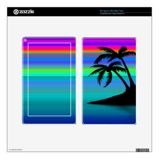 Tropical Island Sunset Skin For Kindle Fire