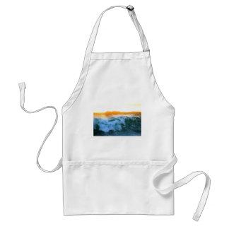 Tropical island sunset surf adult apron
