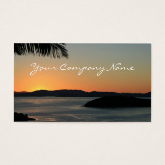 Tropical Island Sunset - Travel Business Cards