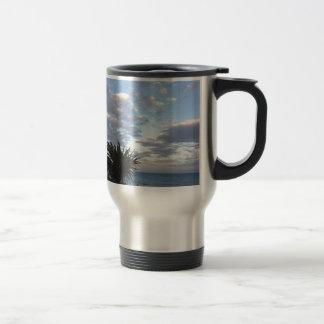 Tropical Island Sunset Travel Mug