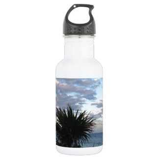 Tropical Island Sunset Water Bottle