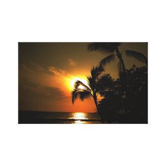 Tropical Island Sunsets Canvas Print