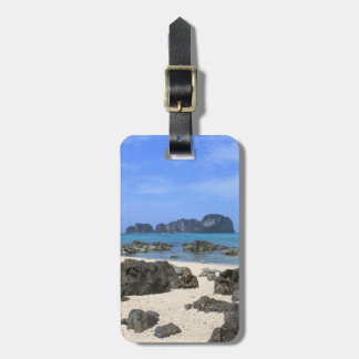 Tropical island tag for bags