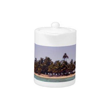 Beach Themed Tropical Island Teapot