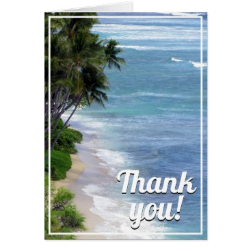 Tropical Island Thank You Card
