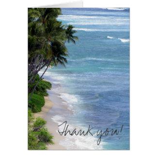 Tropical Island Thank You Greeting Card