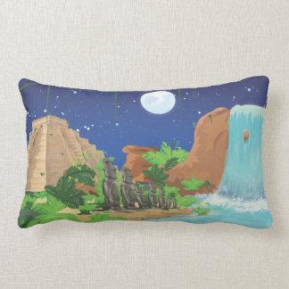 Tropical island throw pillow