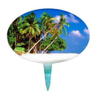 Tropical Island Trade Winds Maldive Cake Topper
