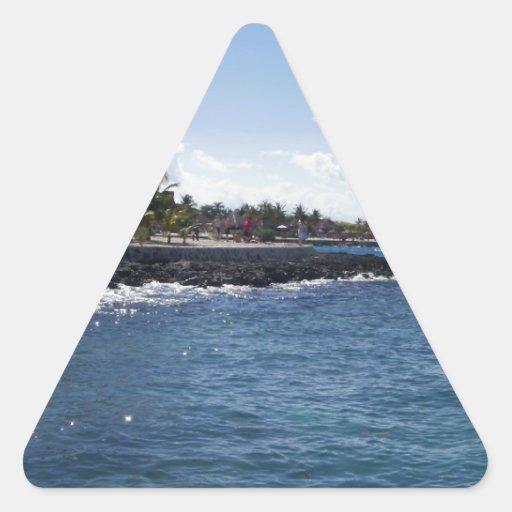 Tropical Island Triangle Sticker