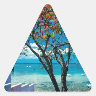 Tropical Island Tropical Escape Bahamas Triangle Stickers
