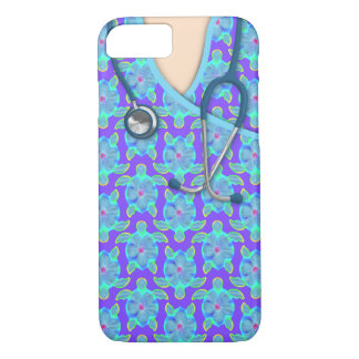 Tropical Island Turtles Medical Scrubs iPhone 8/7 Case