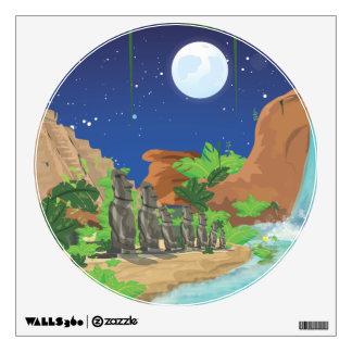 Tropical island wall decal