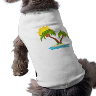 Tropical Island with Two Palm Trees T-Shirt