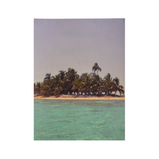 Tropical Island Wood Poster