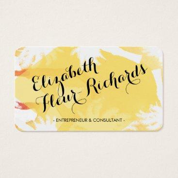 Beach Themed Tropical Island Yellow Business Card