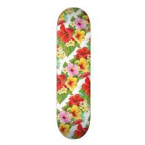 Tropical Islands Hibiscus Skateboard Deck
