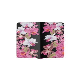 Tropical Islands Orchid Flowers Floral Passport Holder