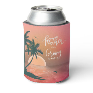 Tropical Isle Mother of the Groom Pink ID581 Can Cooler