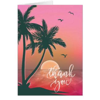 Tropical Isle Sunrise Thank You Pink ID581