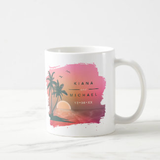 Tropical Isle Sunrise Wedding Pink ID581 Coffee Mug