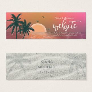 Tropical Isle Sunrise Wedding Website Pink ID581