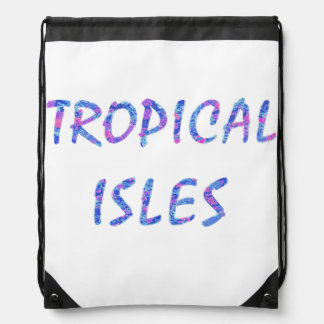 Tropical Isles Drawstring Backpack