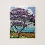 Tropical Jacaranda Tree Art Puzzle